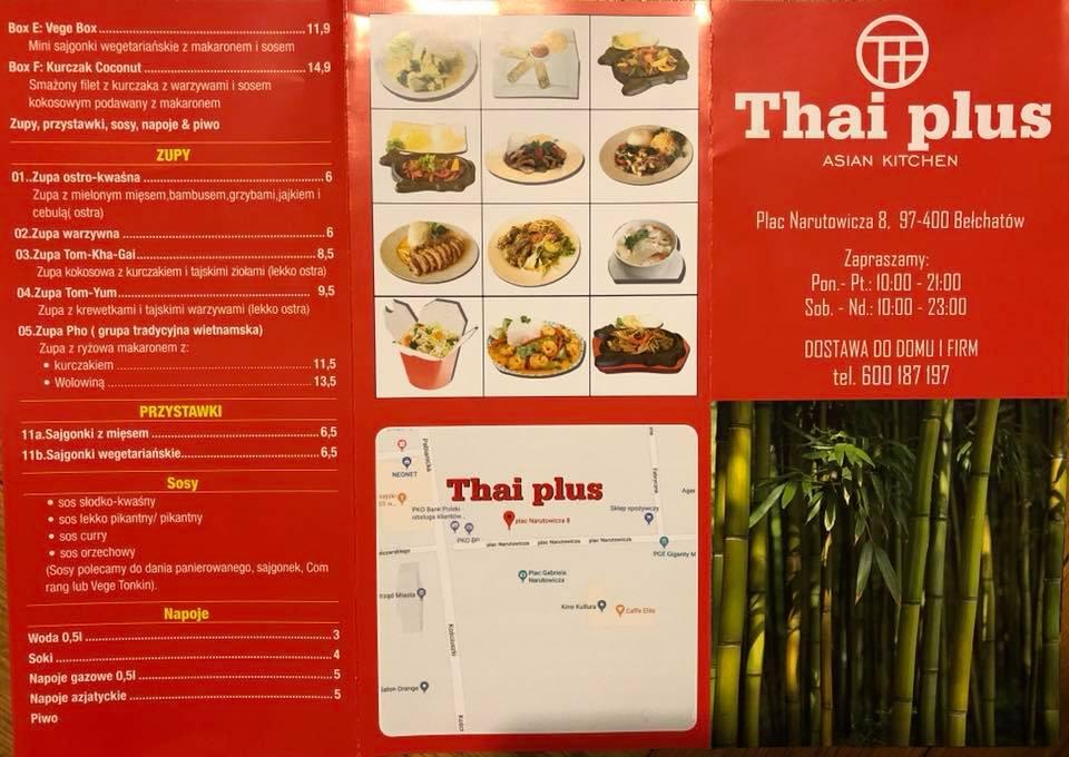 Thai Plus Restauracja Azjatycka Belchatow Opinie Oceny Menu Recenzje